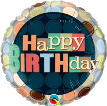 "Birthday Dots Foil Balloon (18"") 1pc"
